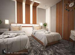 DISEÑO DE INTERIORES - DORM DOBLE: Dormitorios de estilo  por CN y Arquitectos