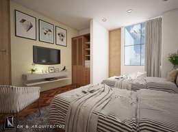 DISEÑO DE INTERIORES Y DECORACIÓN : Dormitorios de estilo  por CN y Arquitectos