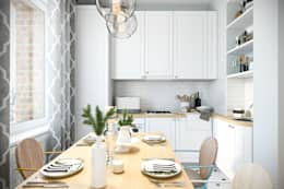scandinavian Kitchen by Студия архитектуры и дизайна Дарьи Ельниковой