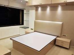 andheri west 2 bhk: modern Bedroom by The Red Brick Wall