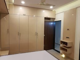 andheri west 2 bhk: minimalistic Bedroom by The Red Brick Wall