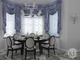 غرفة السفرة تنفيذ KOSOLAPOVA DESIGN