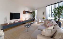 Living Room: minimalistic Living room by Graham D Holland