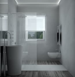 Projekty,  Łazienka zaprojektowane przez Studio Atelier di Silvana Barbato