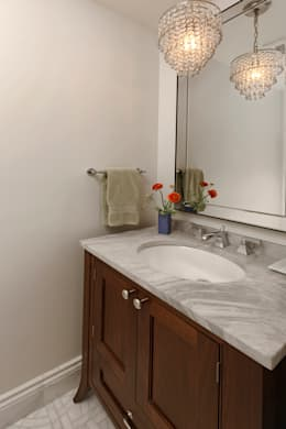 Stylish First-Floor Bungalow Renovation in Arlington, VA : minimalistic Bathroom by BOWA - Design Build Experts