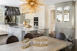 Dash of Gold: modern Kitchen by Kellie Burke Interiors