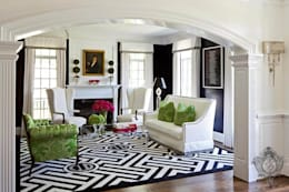 Living Room: eclectic Living room by Kellie Burke Interiors