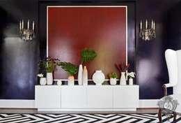 Salon de style de style eclectique par Kellie Burke Interiors