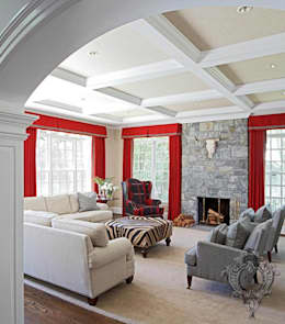 Family Room: eclectic Media room by Kellie Burke Interiors