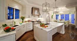 Kitchen: eclectic Kitchen by Kellie Burke Interiors