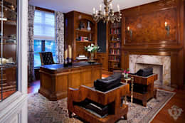 Office: classic Study/office by Kellie Burke Interiors