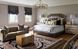 Guest Room: eclectic Bedroom by Kellie Burke Interiors