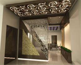 Pooja Room:  Balconies, verandas & terraces  by A-Z Architects & Vaastu