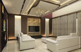 Residence OF Mr.Raghav: colonial Living room by A-Z Architects & Vaastu