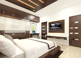 Residence OF Mr.Raghav: colonial Bedroom by A-Z Architects & Vaastu