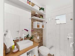 BANHEIRO: Banheiros modernos por Patricia Moreno A R Q U I T E T U R A