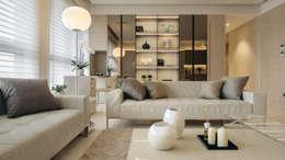 غرفة المعيشة تنفيذ 汎羽空間設計