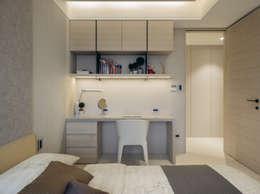 NO.36 L宅:  臥室 by 汎羽空間設計