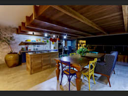 Receber em alto estilo: Cozinhas tropicais por Montenegro Arquitetura