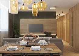 غرفة المعيشة تنفيذ Дизайн Студия 33