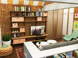 Salas de estilo ecléctico por Nume Design de Ambientes