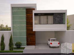 : Casas de estilo minimalista por HHRG ARQUITECTOS