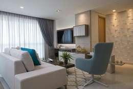 modern Living room by LARA LEITÃO ARQUITETURA E ENGENHARIA