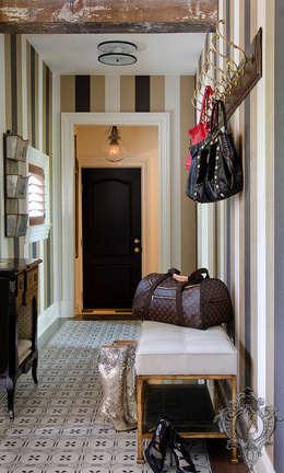 Mudroom :  Corridor & hallway by Kellie Burke Interiors