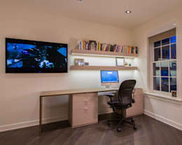 McLean Transitional : modern Study/office by FORMA Design Inc.