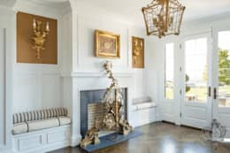 First Floor Foyer:  Corridor & hallway by Kellie Burke Interiors