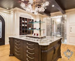 Red Wine Cellar: classic Wine cellar by Kellie Burke Interiors