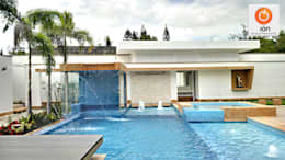 PISCINA CASA BLANCA,  Cali - Colombia: Piscinas de estilo minimalista por ION arquitectura SAS