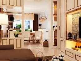 eclectic Living room by pyh's interior design studio
