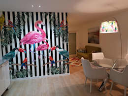 Papel de parede: Cozinhas ecléticas por Alma Braguesa Furniture