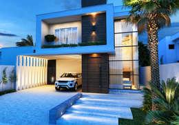 Casas de estilo moderno por Marilia Zimmermann Arquitetura e Interiores