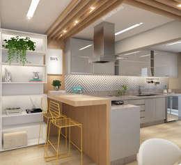 Cocinas de estilo moderno por Marilia Zimmermann Arquitetura e Interiores
