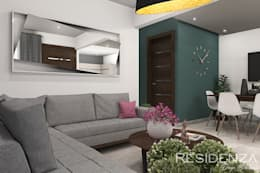 SALA : Salas de estilo moderno por Residenza by Diego Bibbiani