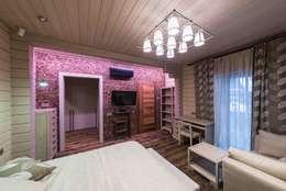 Дом GOOD WOOD в  Завидове из клееного бруса: Гостиная в . Автор – GOOD WOOD