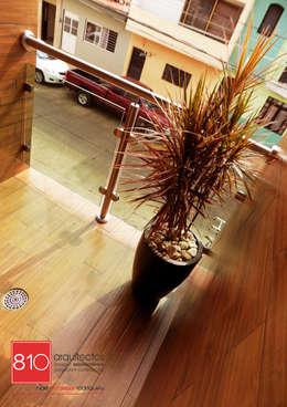 Casa Habitación. Ignacio, Alma Gutiérrez: Terrazas de estilo  por 810 Arquitectos