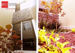 Casa Habitación. Ignacio, Alma Gutiérrez: Jardines de estilo moderno por 810 Arquitectos
