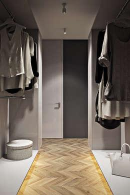 Vestidores y closets de estilo ecléctico por CULTURA-дизайн