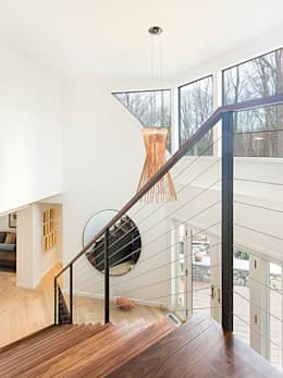 Dutchess County Residence, Amenia, NY: modern Corridor, hallway & stairs by BILLINKOFF ARCHITECTURE PLLC