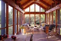 Hayden Lane Residence, Bucks County, PA:  Patios & Decks by BILLINKOFF ARCHITECTURE PLLC
