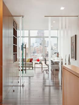 High Line Penthouse, New York, NY: minimalistic Study/office by BILLINKOFF ARCHITECTURE PLLC