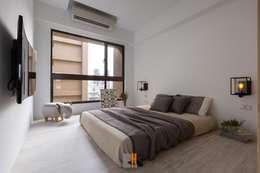 逸.居:  臥室 by 築川室內裝修設計有限公司