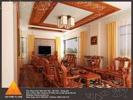 Phòng khách:  Phòng khách by KIẾN TRÚC TÂY HỒ