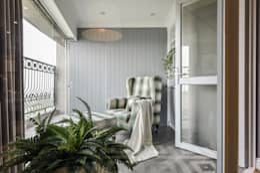 半戶外空間:  陽台、門廊與露臺 by 存果空間設計有限公司