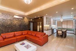 Living Room: modern Living room by Vivek Shankar Architects
