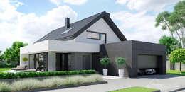 Projekt domu HomeKONCEPT 51: styl nowoczesne, w kategorii Domy zaprojektowany przez HomeKONCEPT | Projekty Domów Nowoczesnych