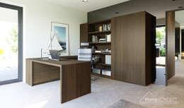 Projekt domu HomeKONCEPT 51: styl , w kategorii Domowe biuro i gabinet zaprojektowany przez HomeKONCEPT | Projekty Domów Nowoczesnych